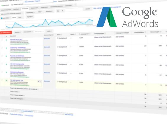 Adverteren in Google met Adwords